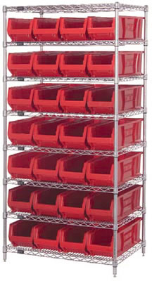 hulk bin shelving units hulk bin wire shelving units chrome wire units with bins. Black Bedroom Furniture Sets. Home Design Ideas