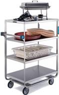 stainless steel multi-shelf carts