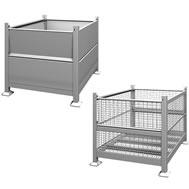 rigid steel bins