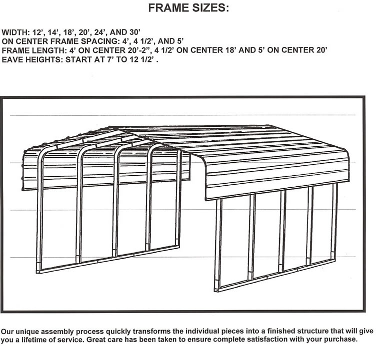 Atv Metal Carports : Carports steel shelters storage boat vehicle