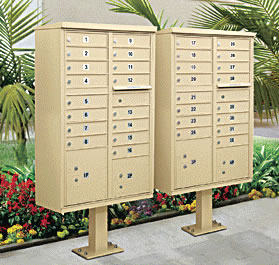 Cluster Box Units Front Loading Mail Boxes Pedestal Cluster Box