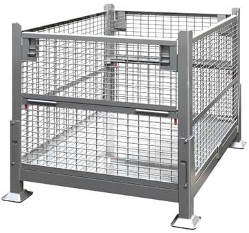 KNOCK DOWN 2 GATE WIRE MESH STEEL BIN