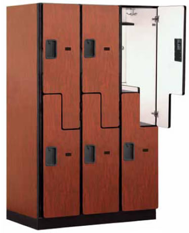 extra wide designer lockers multiple tier lockers