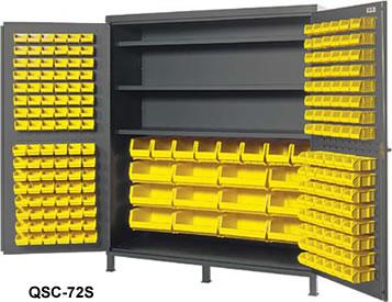 72 W X 24 D 84 H Total Of 212 Bins Flush Door Model 96 Qus210 Qus220 8 Qus240 12 Qus250 And 3 Adjule Shelves