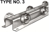 type 3 conveyor rail wheels