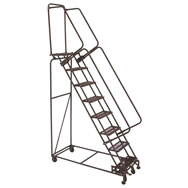 weight actuated lockstep ladders