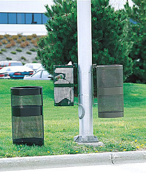 landscape series perforated trash receptacles