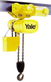 Yale electric chain hoists hoists with motor driven trolley for 2 ton hoist with motorized trolley