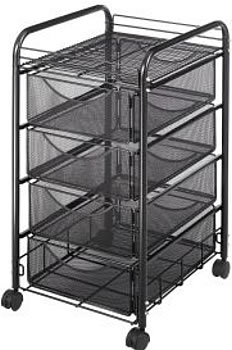 ... Mesh File Cart With 4 Drawers ...