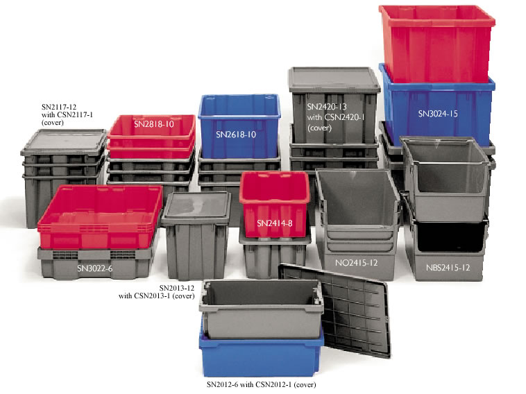 polylewton stacknnest containers