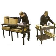 plastic work bench adn table