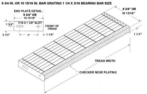 Serrated Bar Grating Stair Treads Galvanized Treads