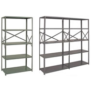 ironman 18 & 20 ga steel opens shelving system