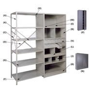 shelving parts and components