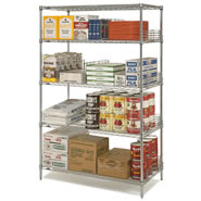 stainless steel super erecta shelving