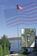 stainless steel flag poles and american flag