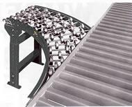 gravity skatewheel spur conveyor