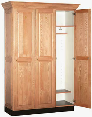 Oak Finish Single Tier Lockers