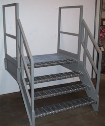 Galvanized stairs metal stairs osha prefab stairways for Prefabricated stairs