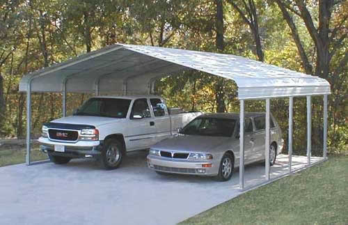 Metal Garages And Shelters : Carports steel shelters storage boat vehicle
