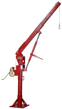 thern 572 Series stationary davit cranes lift up to 2,200 lbs.