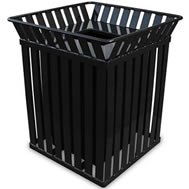 Stainless Steel Witt Industries 4000SS 3.5 Gallon Square Ash N Trash Urn Receptacles