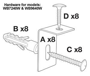 quartet dry erase board mounting instructions