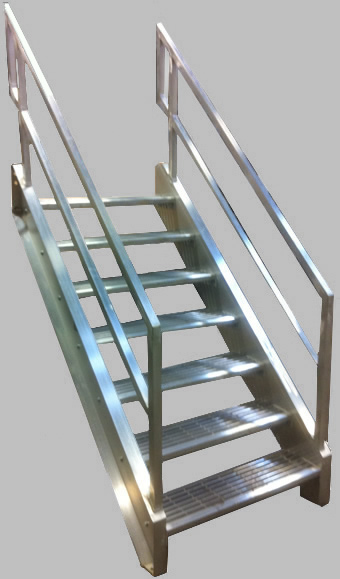 Perfect Welded Aluminum Prefab Stairways, Galvanized Stairs, Industrial Stairs, Metal  Stairs, Open Tread Stair, OSHA Prefab Stairways