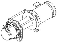 wf series ac electric winches powered winches power winch power Electrical Cable Winch drum size
